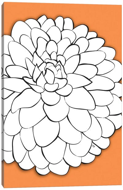 Chrysanthemum Orange Canvas Art Print