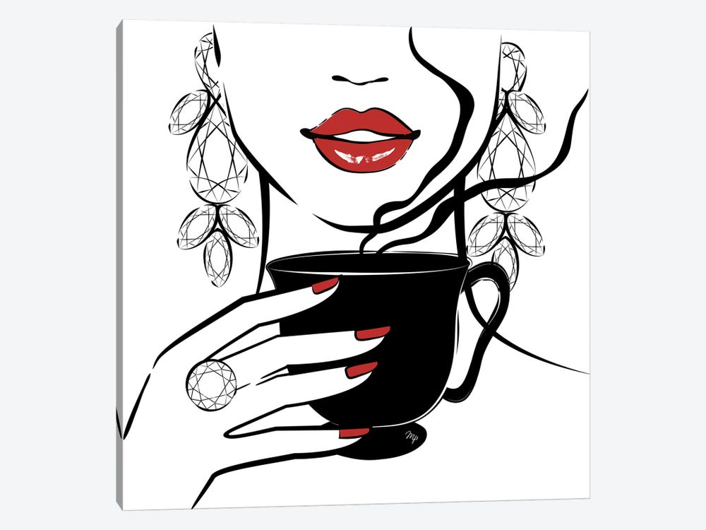 Coffee Time by Martina Pavlova 1-piece Canvas Print