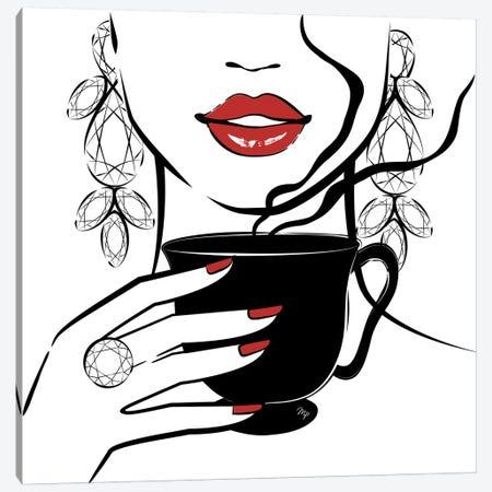 Coffee Time Canvas Print #PAV66} by Martina Pavlova Canvas Art Print