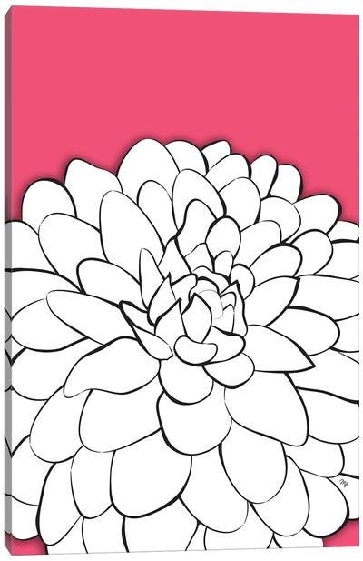 Chrysanthemum Pink Canvas Art Print