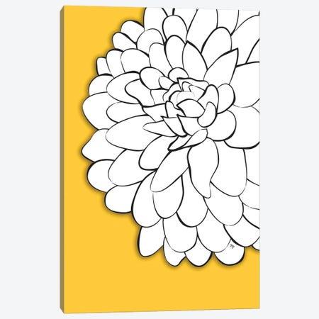 Chrysanthemum Yellow Canvas Print #PAV671} by Martina Pavlova Canvas Artwork