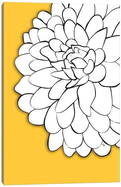 Chrysanthemum Yellow Canvas Art Print