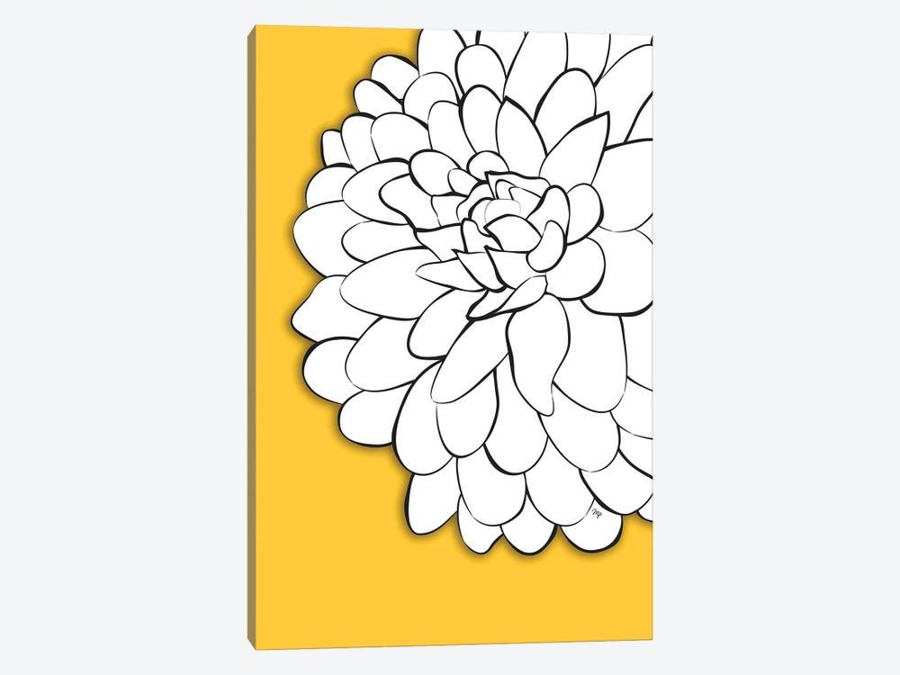 Chrysanthemum Yellow by Martina Pavlova 1-piece Canvas Wall Art