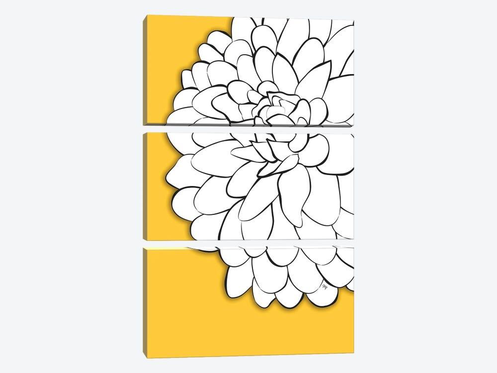 Chrysanthemum Yellow by Martina Pavlova 3-piece Canvas Artwork