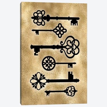 Golden Keys Canvas Print #PAV673} by Martina Pavlova Canvas Wall Art