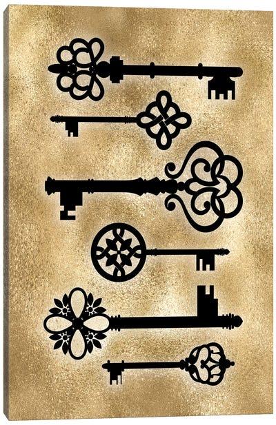 Golden Keys Canvas Art Print