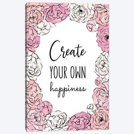 Create Happiness Canvas Print #PAV674} by Martina Pavlova Canvas Art Print