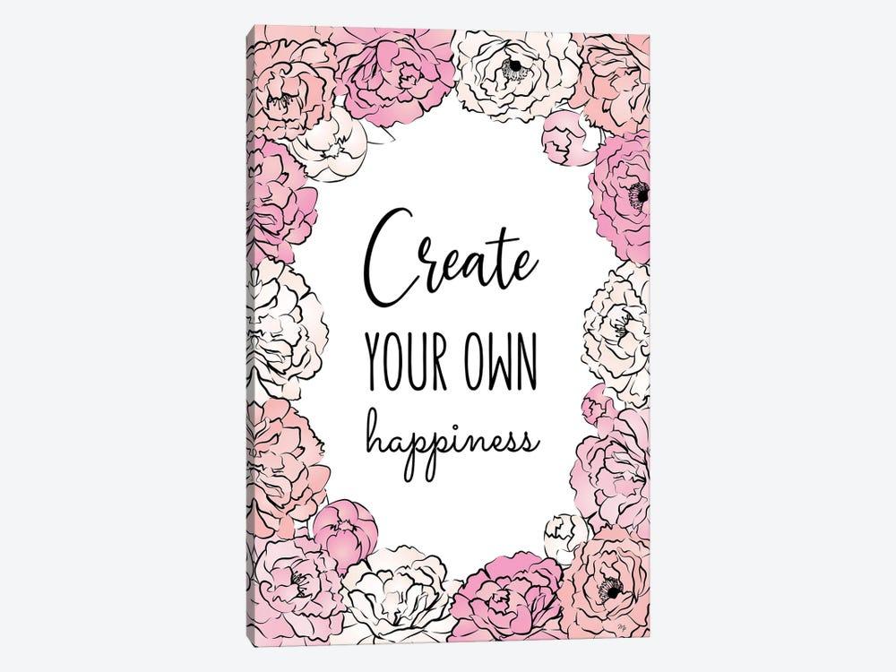 Create Happiness by Martina Pavlova 1-piece Canvas Print