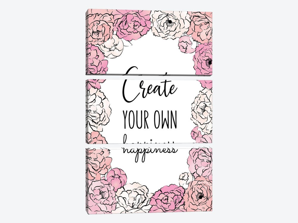 Create Happiness by Martina Pavlova 3-piece Art Print