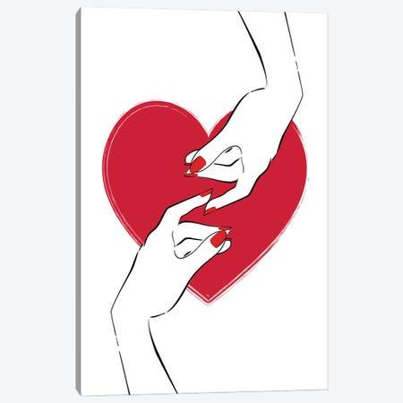 Touching Love Canvas Print #PAV678} by Martina Pavlova Canvas Artwork