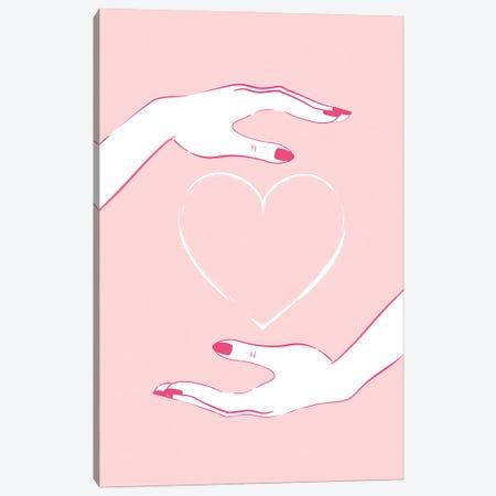 Holding Heart Canvas Print #PAV684} by Martina Pavlova Canvas Art