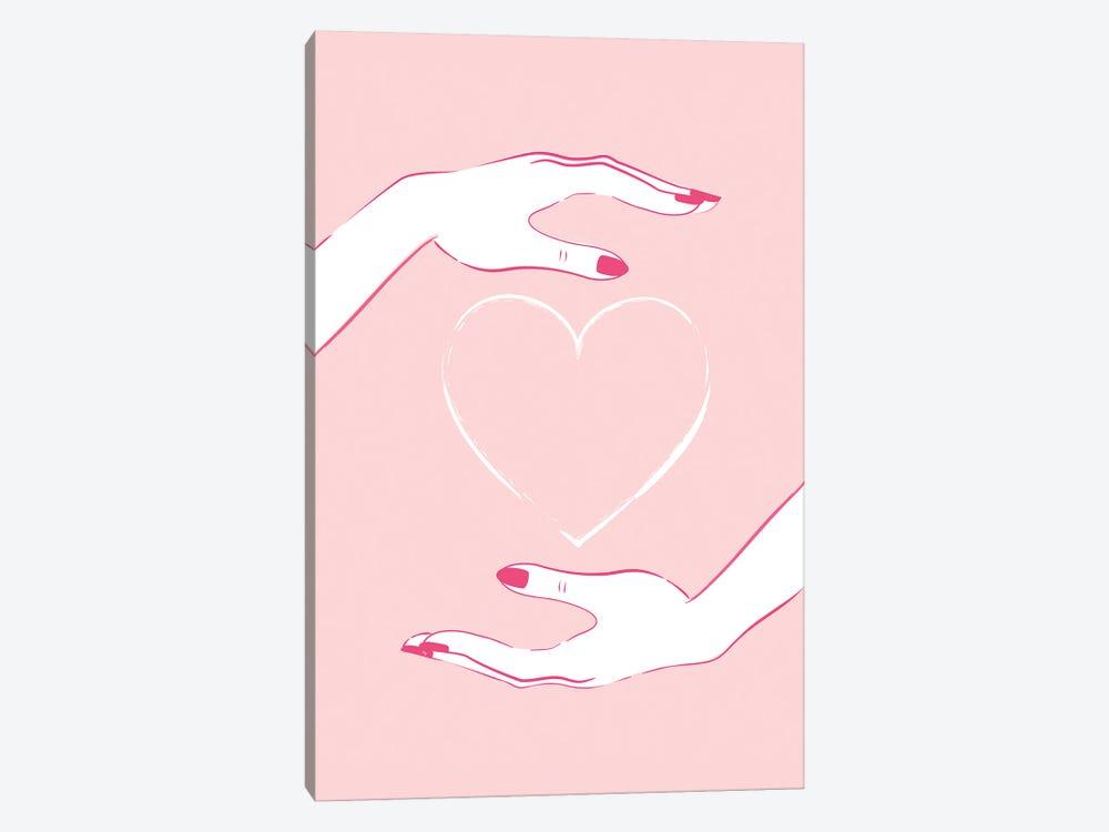 Holding Heart by Martina Pavlova 1-piece Canvas Wall Art