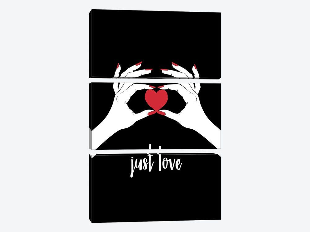 This Heart Love by Martina Pavlova 3-piece Art Print