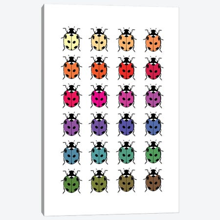 Ladybirds Canvas Print #PAV686} by Martina Pavlova Canvas Wall Art