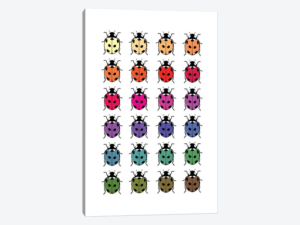 Ladybirds by Martina Pavlova 1-piece Canvas Artwork