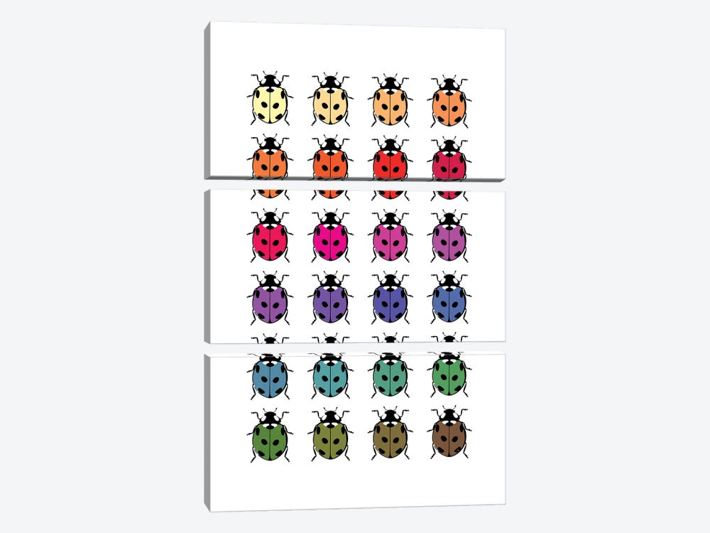Ladybirds 3-piece Canvas Wall Art