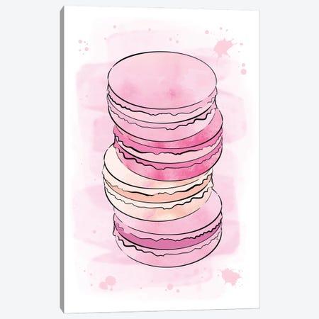 Yummy Macarons Canvas Print #PAV688} by Martina Pavlova Canvas Art Print