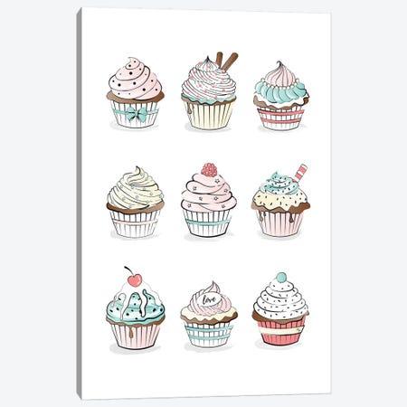 Cupcakes Canvas Print #PAV68} by Martina Pavlova Canvas Wall Art
