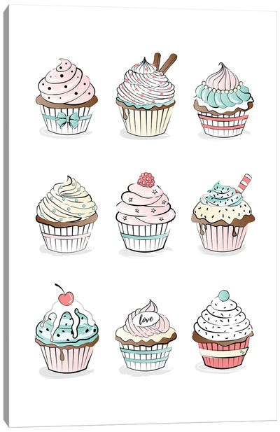 Cupcakes Canvas Art Print