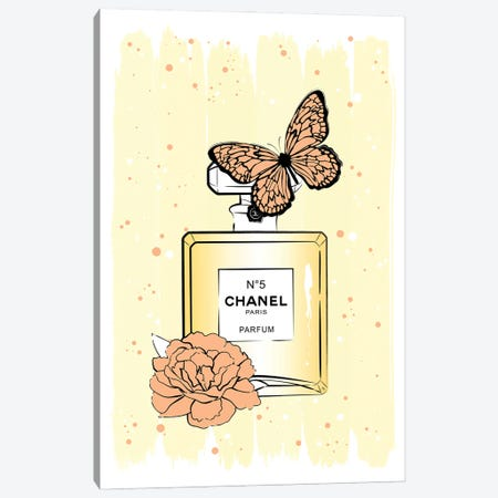 Chanel Butterfly Canvas Print #PAV690} by Martina Pavlova Canvas Art