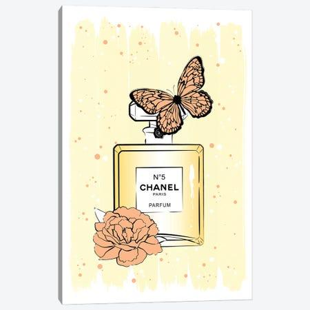 Chanel Butterfly Canvas Print #PAV690} by Martina Pavlova Canvas Art
