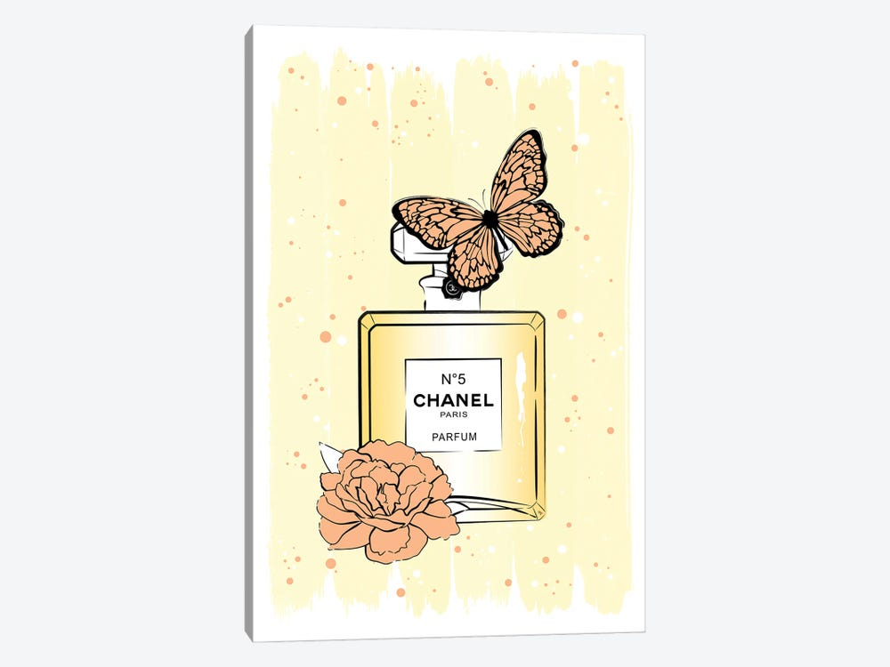 Chanel Butterfly by Martina Pavlova 1-piece Canvas Print