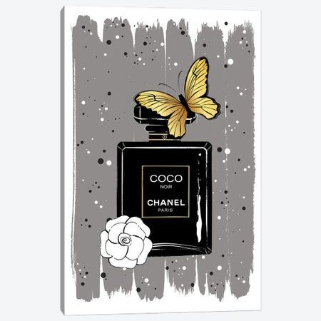 Noir Butterfly Canvas Print #PAV693} by Martina Pavlova Canvas Art