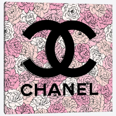Chanel Florals Canvas Print #PAV696} by Martina Pavlova Canvas Print