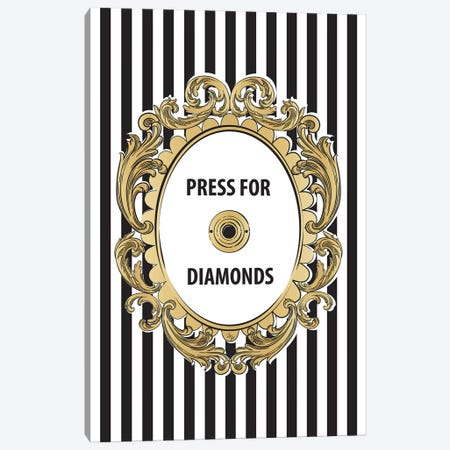 Diamonds Button Canvas Print #PAV69} by Martina Pavlova Canvas Art