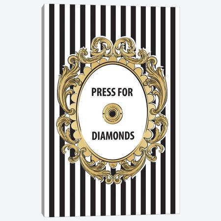 Diamonds Button Canvas Print #PAV69} by Martina Pavlova Canvas Art