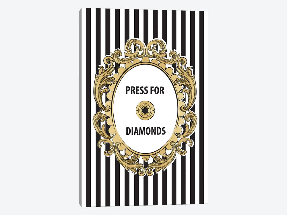 Diamonds Button by Martina Pavlova 1-piece Canvas Art