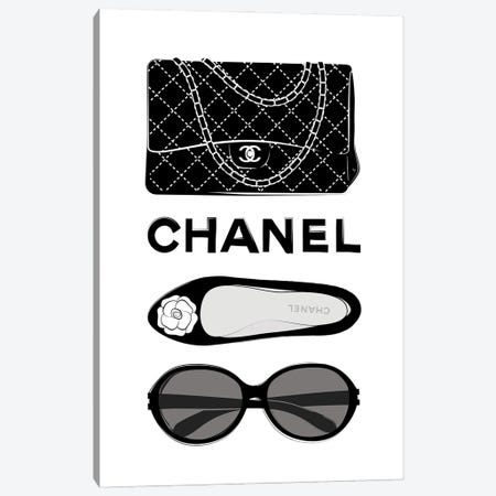 Chanel Elements Canvas Print #PAV700} by Martina Pavlova Canvas Art