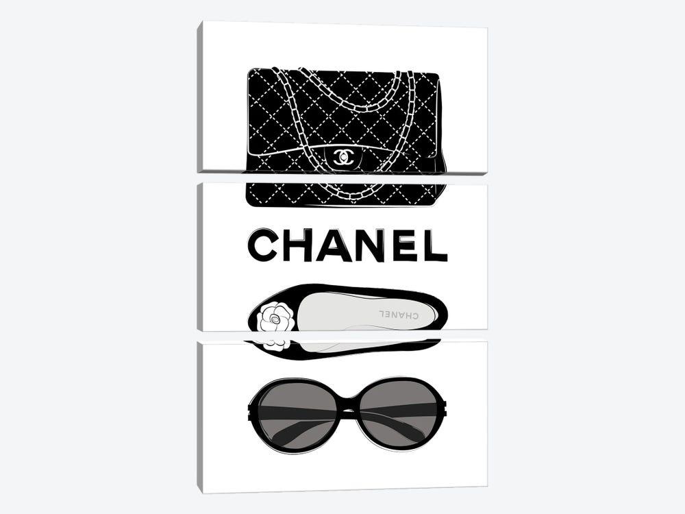 Chanel Elements by Martina Pavlova 3-piece Art Print