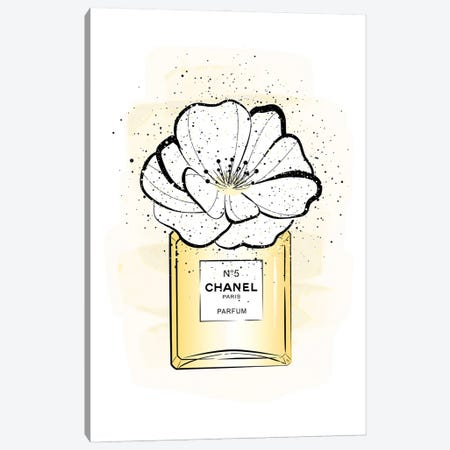Chanel Flower Canvas Print #PAV701} by Martina Pavlova Canvas Artwork