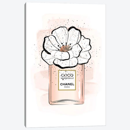 Coco Flower Canvas Print #PAV702} by Martina Pavlova Canvas Art