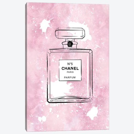 Pink Paint Chanel Canvas Print #PAV708} by Martina Pavlova Canvas Art