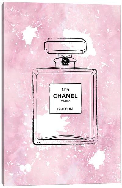 Pink Paint Chanel Canvas Art Print