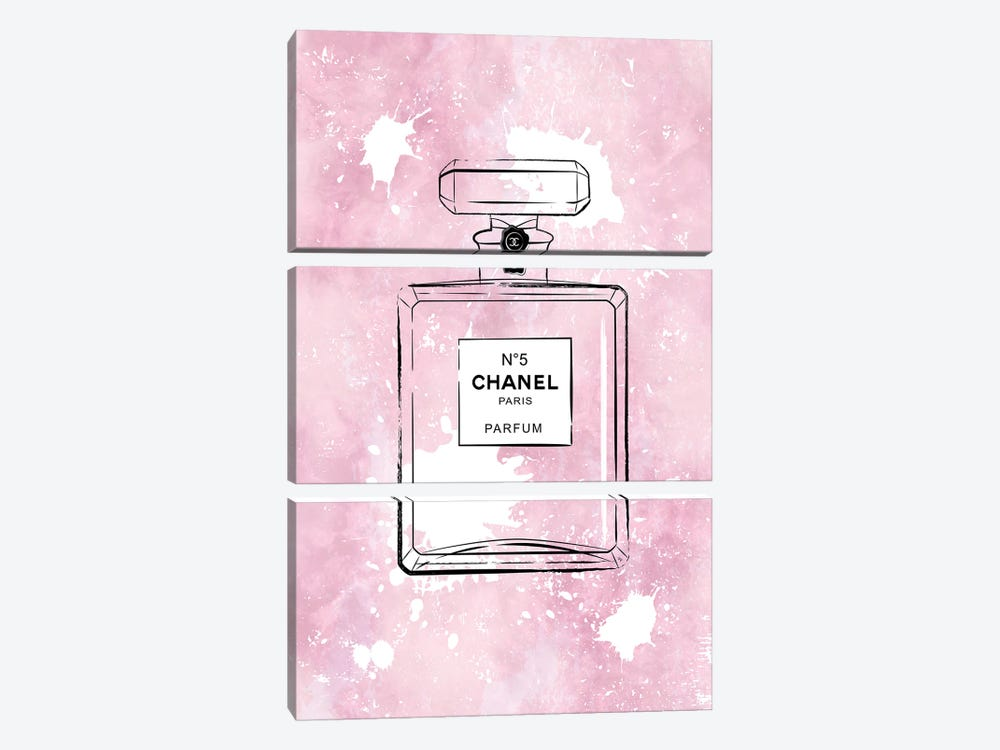 Pink Paint Chanel by Martina Pavlova 3-piece Art Print