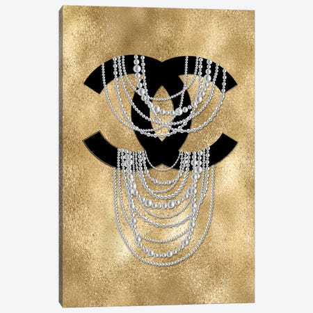 Golden Pearls Canvas Print #PAV709} by Martina Pavlova Canvas Artwork