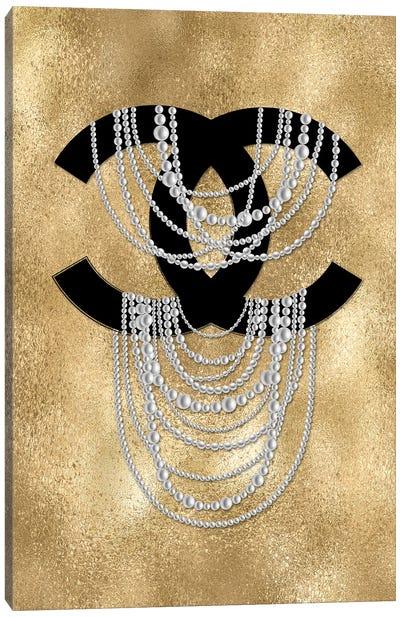 Golden Pearls Canvas Art Print