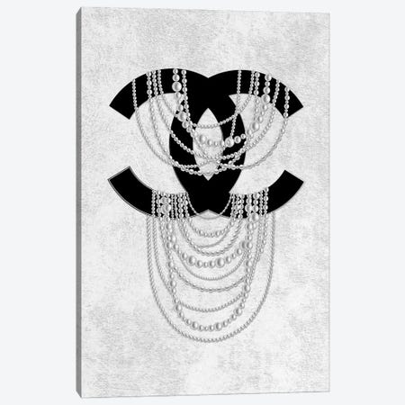 Grey Pearls Canvas Print #PAV710} by Martina Pavlova Canvas Print