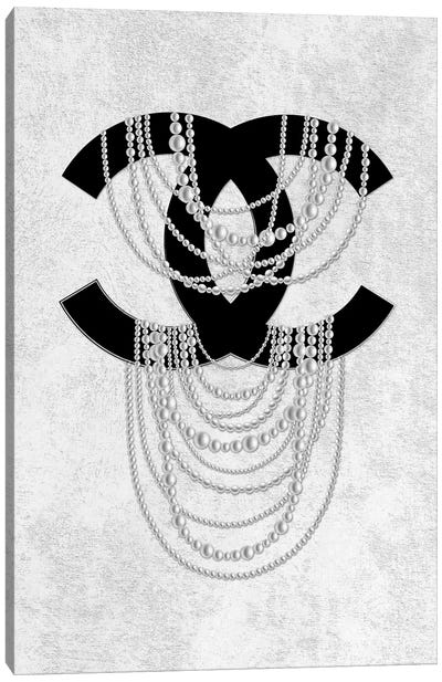 Grey Pearls Canvas Art Print