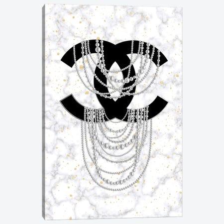 Marble Pearls Canvas Print #PAV712} by Martina Pavlova Art Print