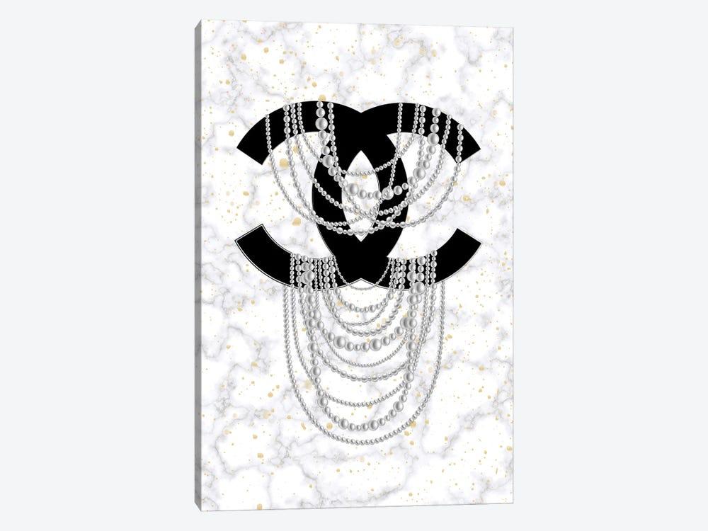Marble Pearls by Martina Pavlova 1-piece Canvas Art