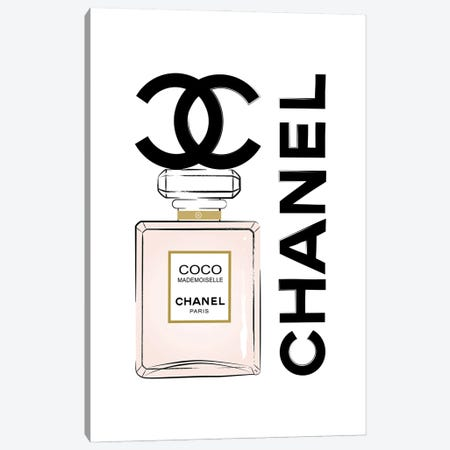 Coco Chanel Perfume Canvas Print #PAV715} by Martina Pavlova Canvas Art