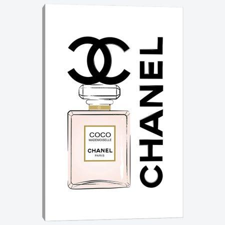 Coco Chanel Perfume Canvas Print #PAV715} by Martina Pavlova Canvas Art