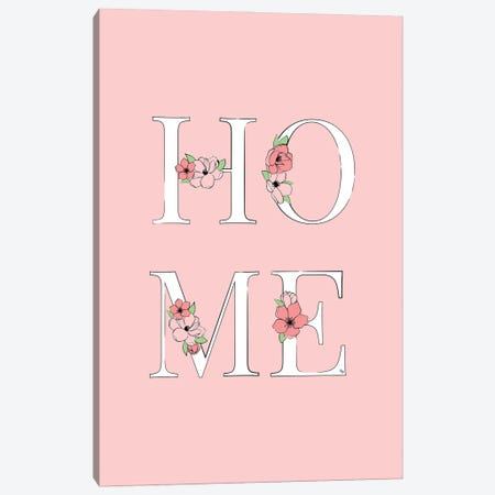 Home Pink Canvas Print #PAV722} by Martina Pavlova Canvas Artwork