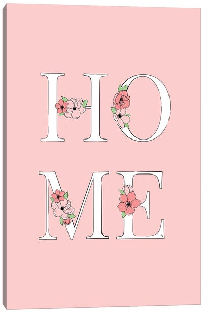 Home Pink Canvas Art Print