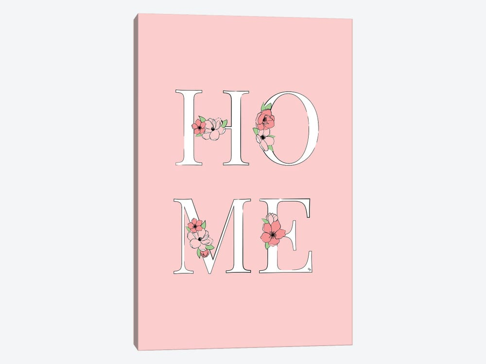 Home Pink by Martina Pavlova 1-piece Canvas Art Print
