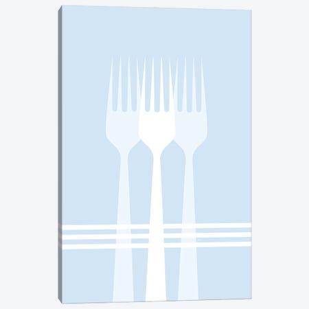 Blue Forks Canvas Print #PAV723} by Martina Pavlova Canvas Wall Art